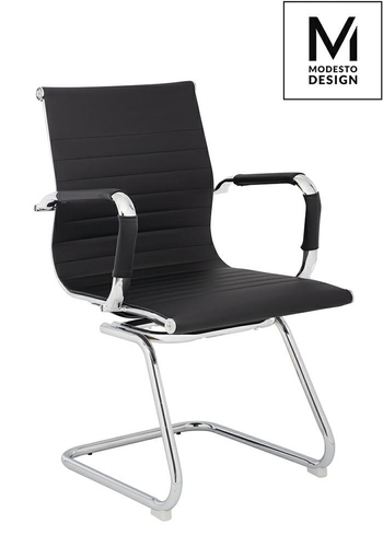MODESTO office chair ERGO SQUID black - eco-leather, chrome
