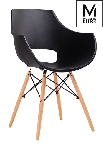MODESTO armchair FORO black - beech base