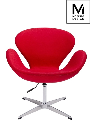 MODESTO armchair SWAN UP red, wool - adjustable height