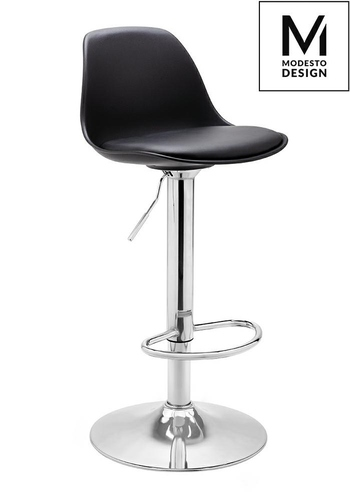 MODESTO stool ALT black - polypropylene, eco-leather, chrome
