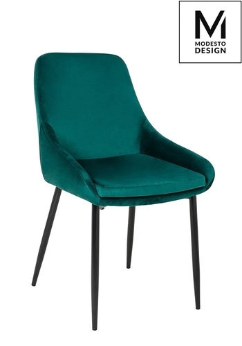 MODESTO chair CLOVER green - velor, metal