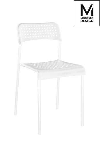 MODESTO chair DAVIS white - polypropylene, metal