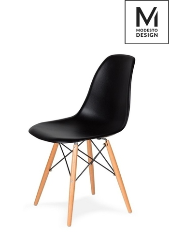 MODESTO DSW black chair - beech base