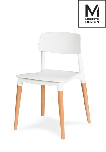 MODESTO white chair ECCO - polypropylene, beech base