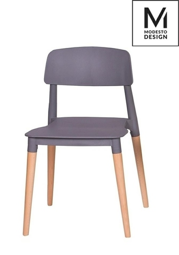 MODESTO gray ECCO chair - polypropylene, beech base