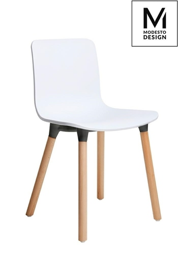 MODESTO chair HOLY WOOD white - polypropylene, beech legs