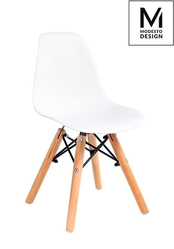 MODESTO chair JUNIOR DSW white - polypropylene, beech legs