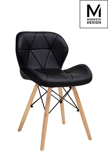 MODESTO chair KLIPP black - eco-leather, beech base