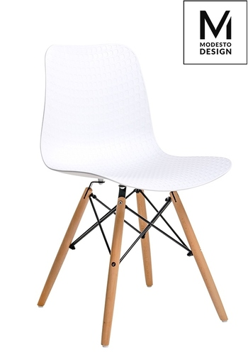 MODESTO chair KRADO WOOD white - polypropylene, beech base