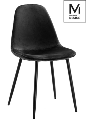 MODESTO chair LUCY black - velor, metal