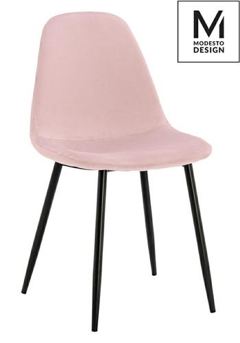 MODESTO chair LUCY powder pink - velor, metal