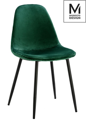 MODESTO chair LUCY green - velor, metal