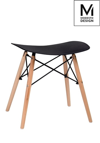 MODESTO stool BORD black - polypropylene, beech base