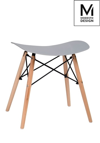 MODESTO stool BORD gray - polypropylene, beech base