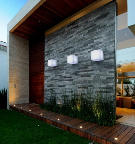 NEW GARDEN wall lamp CUBY 20 WALL white - LED