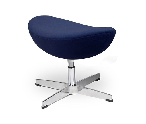Footrest EGG CLASSIC Atlantic blue 26 - wool, aluminum base