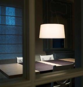 Hanging lamp Kundalini Tripod Ecru 3x100W E27 small 2