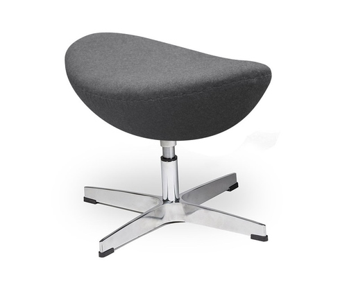 Footrest EGG CLASSIC graphite. 4 - wool, aluminum base