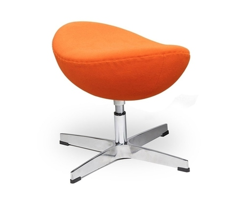 EGG CLASSIC carrot footrest. 38 - wool, aluminum base