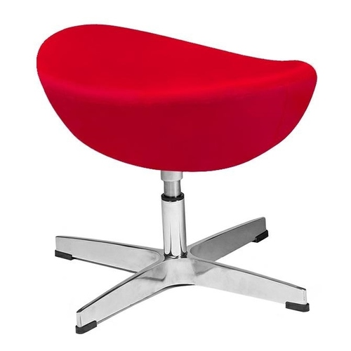 EGG CLASSIC VELVET red.43 footrest - velor, aluminum base