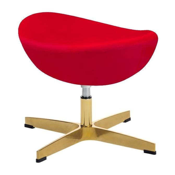 EGG CLASSIC VELVET GOLD red.43 footrest - velor, gold base