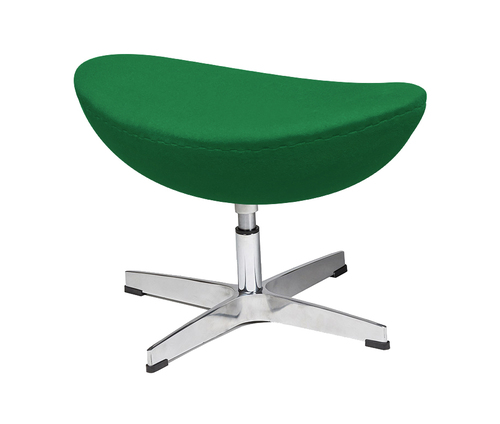 Green leg rest EGG CLASSIC 75 - wool, aluminum base