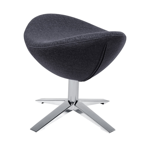 Footrest EGG WIDE dark gray 27 - wool, steel