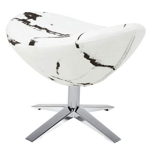 EGG WIDE MARBLE footrest - fabric, steel base
