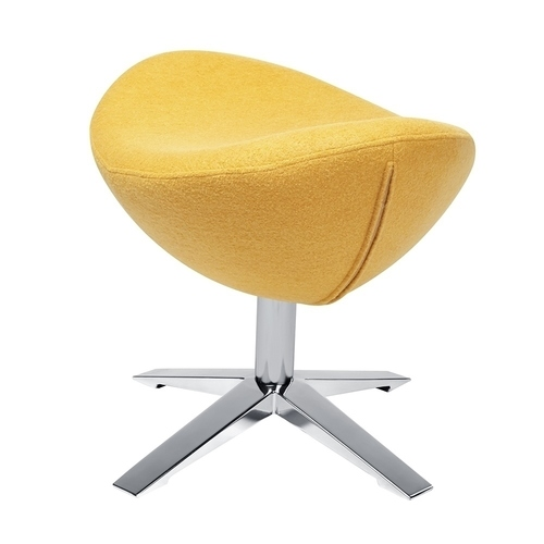 Footrest EGG WIDE mustard.13 - wool, steel