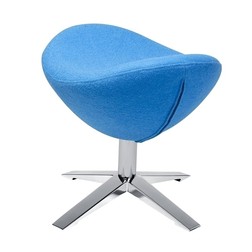Footrest EGG WIDE blue. 6 - wool, steel
