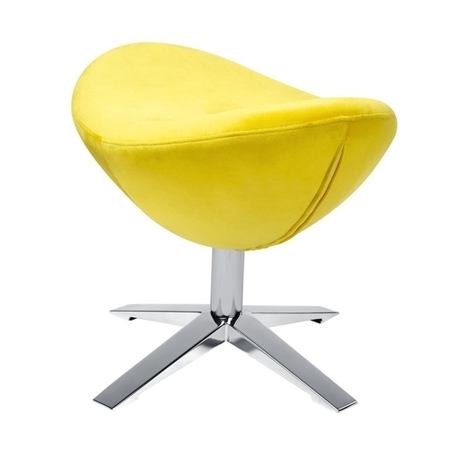 EGG WIDE VELVET yellow.20 footrest - velor, steel base