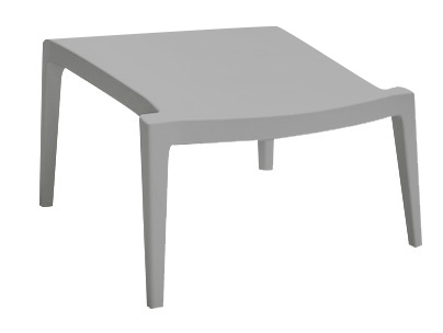 SPOT footstool gray - polypropylene