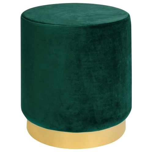 MARGO dark green pouffe - velor, gold base