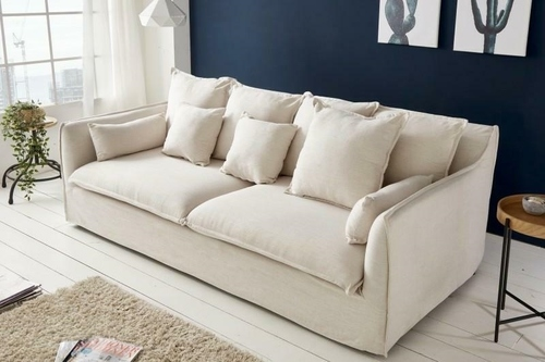 HEAVEN three-seater sofa made of linen - fabric
