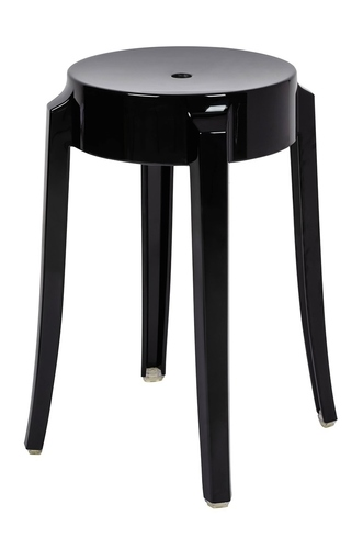 Black CHARLES 46 stool - polycarbonate