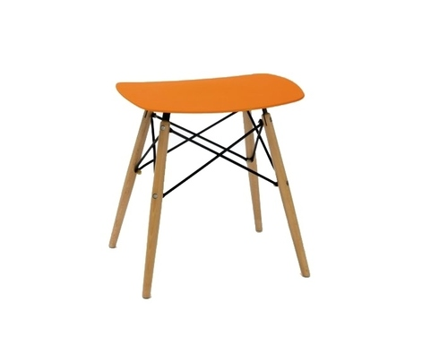 HANDY orange stool - polypropylene, beech