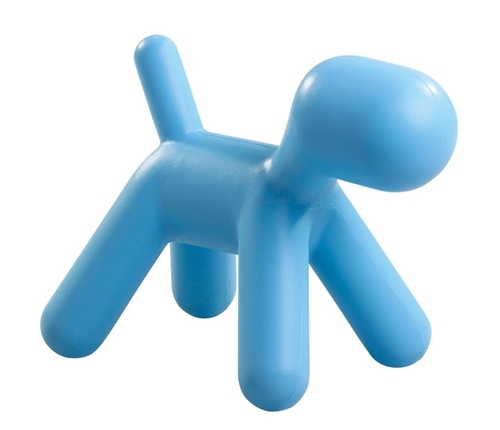 Stool DOG blue - polypropylene