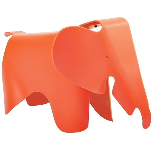 SŁONIK orange stool - polypropylene