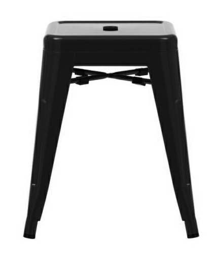 Stool TOWER 45 (Paris) black - metal