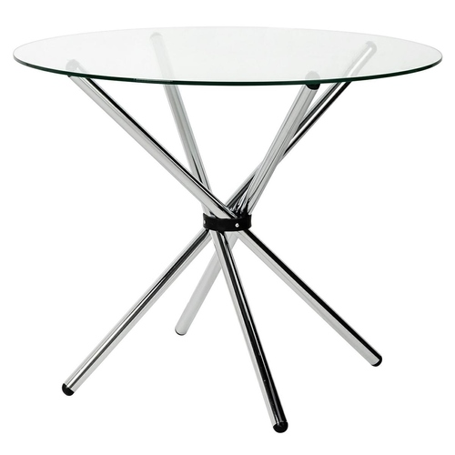 CONEX table glass top - tempered glass, metal