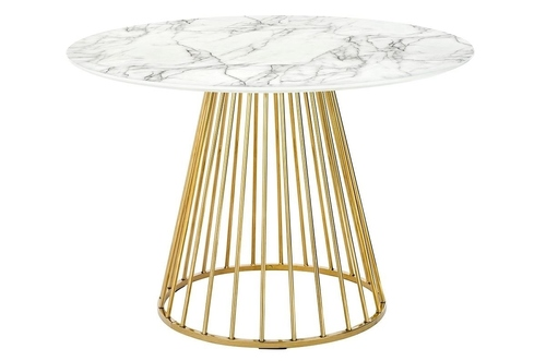 GLAM MARBLE table - MDF, golden base