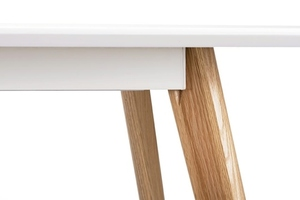 NORD MOVE 160-200 folding table white - MDF top, oak legs small 10
