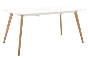 NORD MOVE 160-200 folding table white - MDF top, oak legs small 2