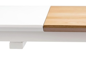 NORD MOVE 160-200 folding table white - MDF top, oak legs small 5