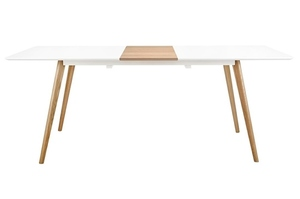 NORD MOVE 160-200 folding table white - MDF top, oak legs small 0