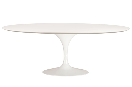 TULIP ELLIPSE table white - oval MDF top, metal