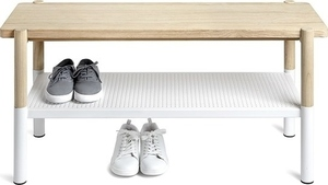UMBRA bench PROMENADE white - wood, metal small 1
