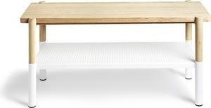 UMBRA bench PROMENADE white - wood, metal small 0