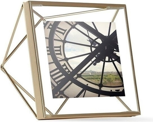 UMBRA photo frame PRISMA 10x10 cm - gold