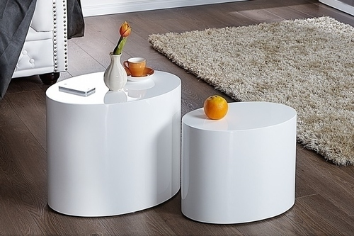 DIVISION table set white - MDF